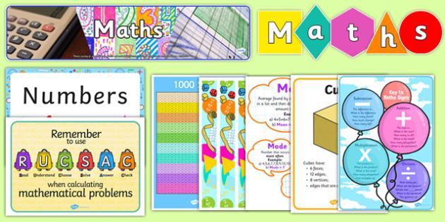 Top 10 KS2 Maths Display Resource Pack