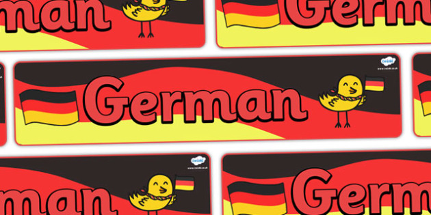 German Display Banner - MFL, German, Modern Foreign Languages, German numbers, foundation, languages, display, banner, display