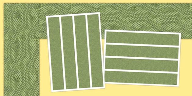 Snake Skin A3 Display Borders - snake skin, a3, display borders, display