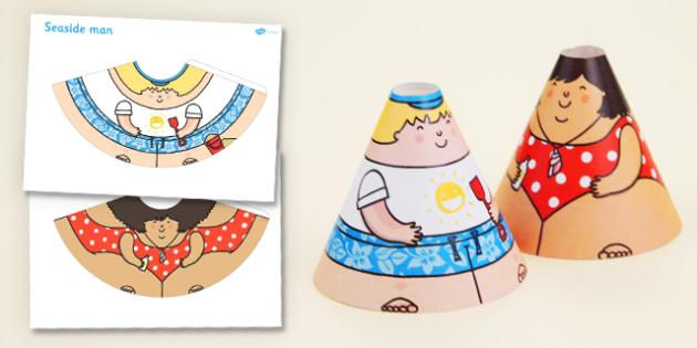 Seaside Cone Characters - seaside, cone, characters, activity