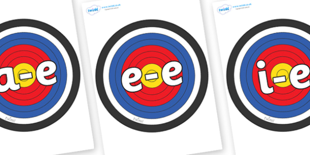 Modifying E Letters on Plain Targets - Modifying E, letters, modify, Phase 5, Phase five, alternative spellings for phonemes, DfES letters and Sounds