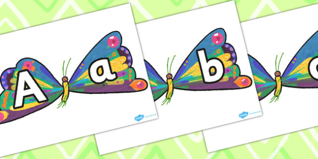 Butterfly A-Z Posters to Support Teaching on The Very Hungry Caterpillar - Caterpillar