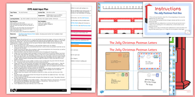 One More Letter EYFS Adult Input Plan And Resource Pack to Support Teaching on The Jolly Christmas Postman -  one more, letter, pack