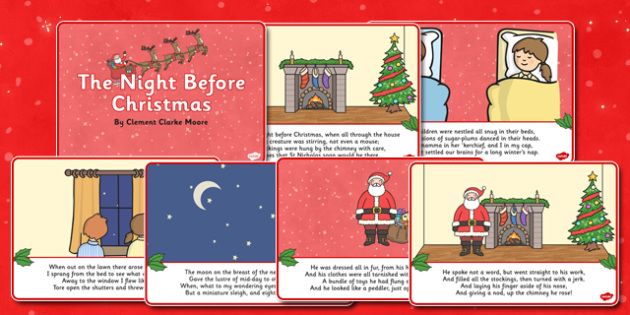 Twas the Night Before Christmas Visual Aids - Twas the Night Before Christmas, tree, advent, nativity, santa, father christmas, Jesus, tree, stocking, present, activity, cracker, angel, snowman, advent , bauble