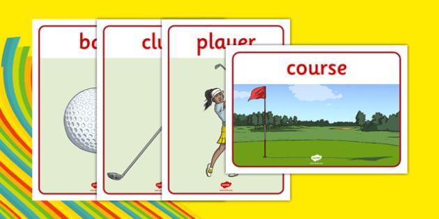 Rio 2016 Olympics Golf Display Posters - rio 2016, 2016 olympics, rio olympics, golf, posters