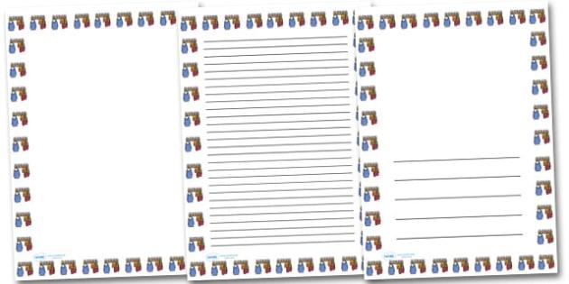 Cloakroom Portrait Page Borders- Portrait Page Borders - Page border, border, writing template, writing aid, writing frame, a4 border, template, templates, landscape