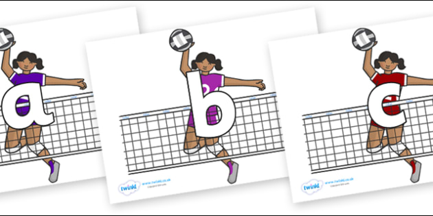 Phoneme Set on Volleyball Players - Phoneme set, phonemes, phoneme, Letters and Sounds, DfES, display, Phase 1, Phase 2, Phase 3, Phase 5, Foundation, Literacy