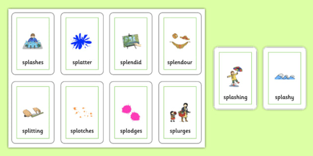 Two Syllable SPL Playing Cards - speech sounds, phonology, articulation, speech therapy, cluster reduction, complex clusters, three element clusters
