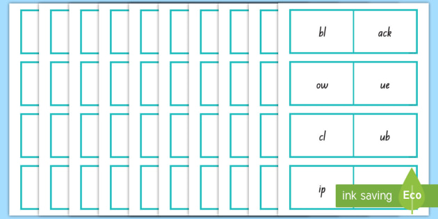 Double Consonant Blend Matching Activity Cards - Phonics, double consonants, blends, matching, cards, word build, words