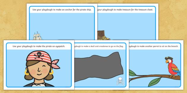 Pirate Playdough Mats - Number Playdough mat,pirate, pirates,  playdough resources, numeracy, numbers, playdough, Fantasy topic, treasure, money, numeracy, coins, bounty,  pirate, pirates, treasure, ship, jolly roger, ship, island, ocean