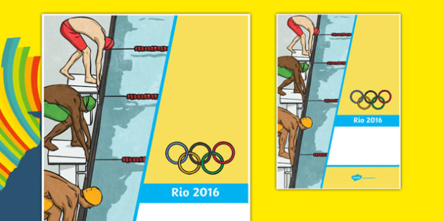 Olympic Themed Binder Covers - usa, america, olympics, 2016 olympics, rio 2016, rio olympics, binder covers