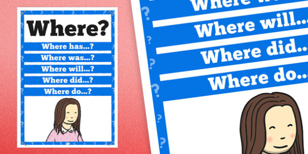 Where? Question Poster - posters, displays, display, questions