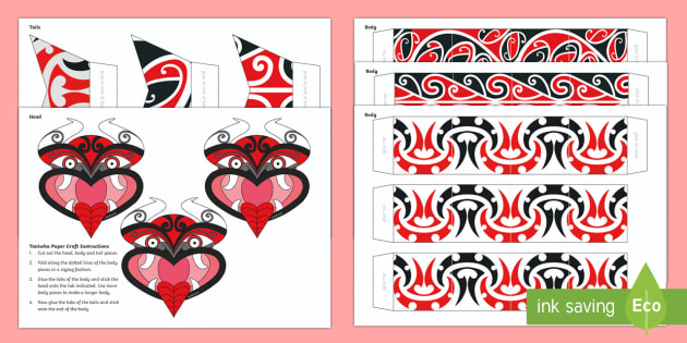 Taniwha Paper Craft