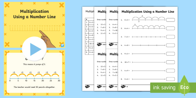 Repeated Addition Activity Pack - KS2 Maths, multiplication, multiply, lots of, times, times tables, repeated addition, number line