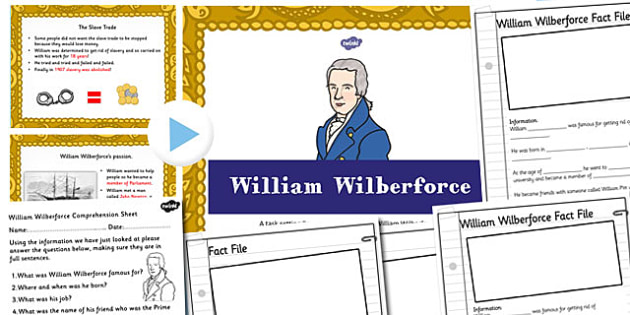 William Wilberforce Powerpoint Task Setter and Activity Pack