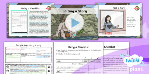 PlanIt Y4 Traditional Tales: The Three Billy Goats Gruff Lesson Pack Story Writing (4)