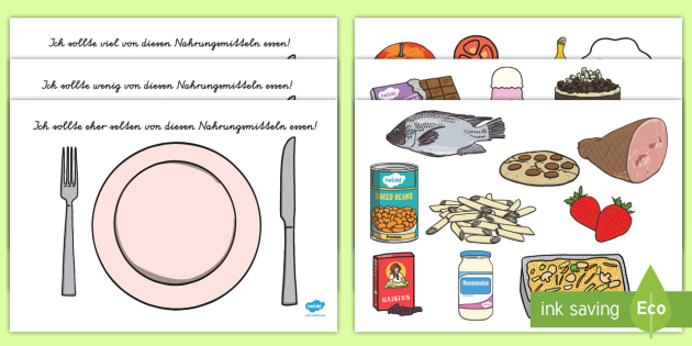 Healthy Eating Sorting Activity German - german, healthy eating, healthy eating sorting, healthy eating sorting game, food groups, food groups sorting activity
