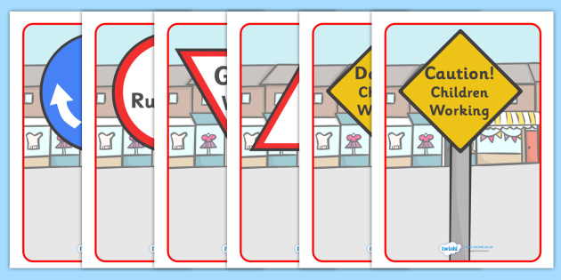 Road Safety Primary Resources Road Signs Safety  Page