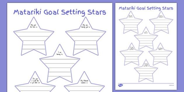 Matariki Goal Setting Stars - nz, new zealand, Matariki, goals, Maori, goal setting