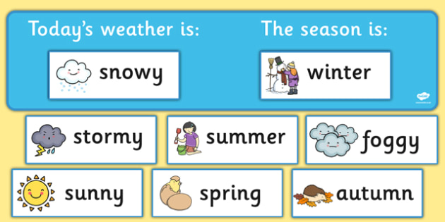 Today's Weather and Season Display Pack - today, weather, season, display pack, display, pack