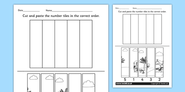 Pirate Themed Number Sequencing Puzzle - numeracy, pirates, maths