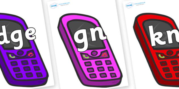 Silent Letters on Mobile Phones - Silent Letters, silent letter, letter blend, consonant, consonants, digraph, trigraph, A-Z letters, literacy, alphabet, letters, alternative sounds