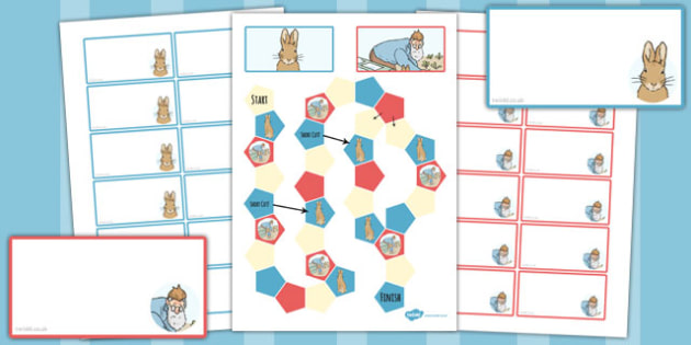 The Tale of Peter Rabbit Themed Editable Board Game - peter rabbit