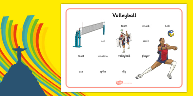 The Olympics Volleyball Word Mat - the olympics, 2016 olympics, rio olympics, rio 2016, volleyball, word mat