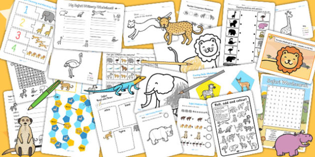 Safari Activity Pack - activities, games, classroom activities