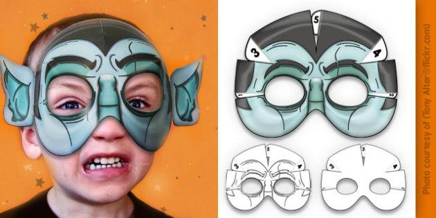 3D Halloween Vampire Monster Mask - 3d, halloween, vampire, monster, mask