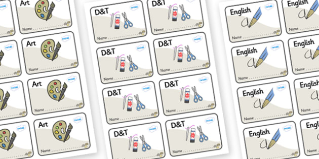 Pebble Themed Editable Book Labels - Themed Book label, label, subject labels, exercise book, workbook labels, textbook labels