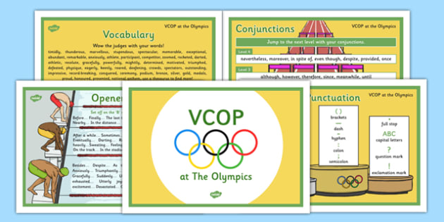 KS2 VCOP Olympic-Themed Display Posters