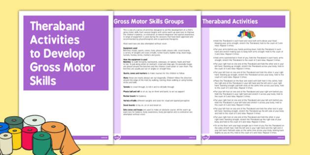 Theraband Gross Motor Skills Activities - Motor, Skill, Theraband