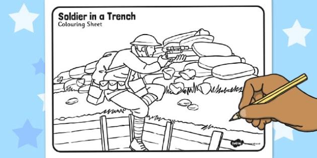 World War One - World War One Colouring Sheet Pack - world war one
