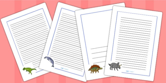Realistic Dinosaurs Page Borders Larger Images - dinosaur, border