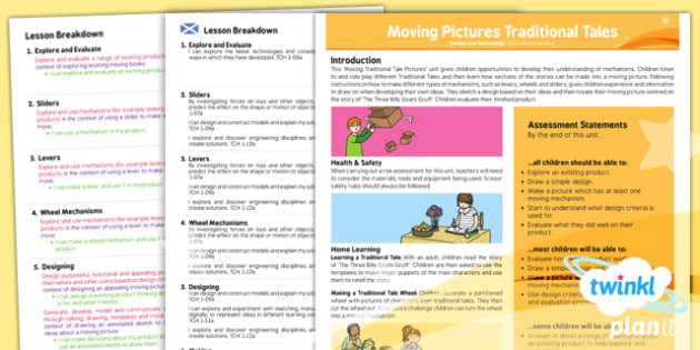 D&T: Moving Pictures Traditional Tales KS1 Planning Overview CfE
