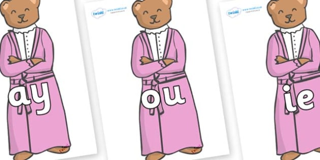Phase 5 Phonemes on Mummy Bear - Phonemes, phoneme, Phase 5, Phase five, Foundation, Literacy, Letters and Sounds, DfES, display