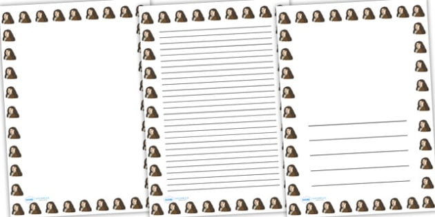 Samuel Pepys Page Borders - samuel pepys, page borders, writing frames, lined pages, writing guide, writing template, themed writing frame, writing aid