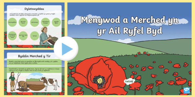 Pŵerbwynt Menywod a Merched yn yr Ail Ryfel Byd
