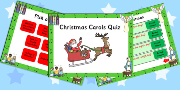 Christmas Song Themed PowerPoint Quiz - christmas, powerpoint, quiz