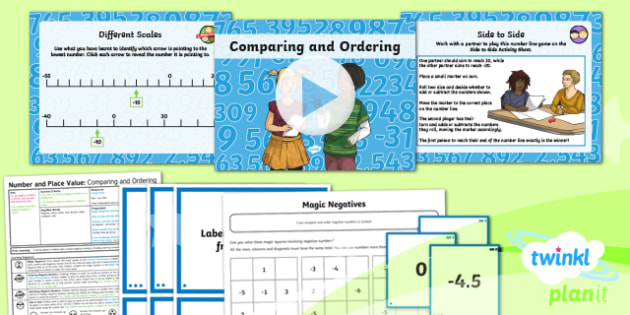 PlanIt Y6 Number and Place Value Lesson Pack - Number, Place Value, negative, order, compare.