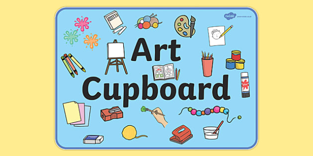 Art Cupboard Display Sign - Art, art cupboard, banner, display, sign, poster, cupboard, class area