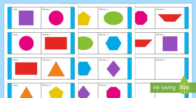 2D shape Loop Cards-Australia - Maths Shape loop cards ,Australia, shape, 2d, polygons, geometry