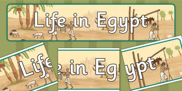 Egyptian Life Display Banner - egyptian, life, display, banner