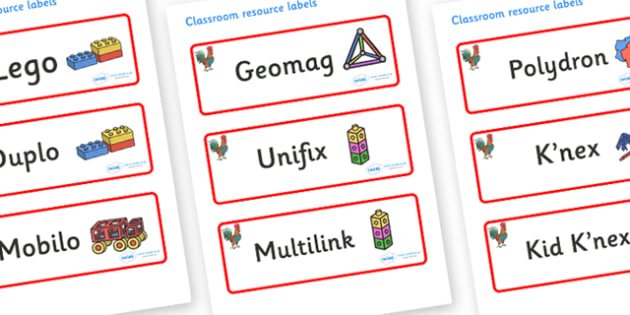 Rooster Themed Editable Construction Area Resource Labels - Themed Construction resource labels, Label template, Resource Label, Name Labels, Editable Labels, Drawer Labels, KS1 Labels, Foundation Labels, Foundation Stage Labels
