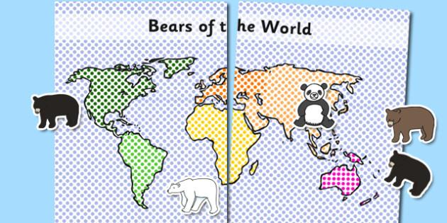 Bears of the World Velcro Display - bears, animals, display