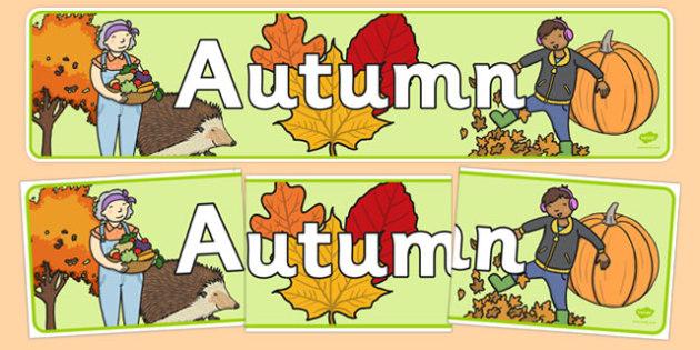 Autumn Display Banner