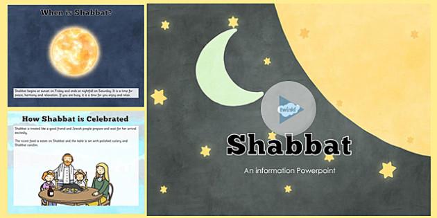 All About Shabbat PowerPoint - shabbat, powerpoint, information