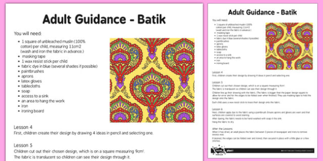 Adult Guidance Batik - adult guidance, batik, adult, guidance, art