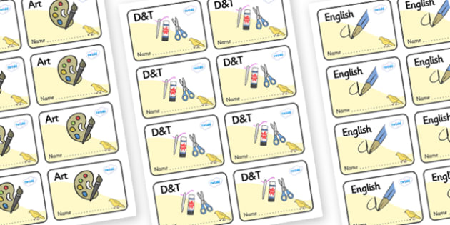 Canary Themed Editable Book Labels - Themed Book label, label, subject labels, exercise book, workbook labels, textbook labels